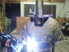 welding together of statue\'s many parts