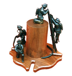 Illinois Firefighter Memorial Miniature Bronze
